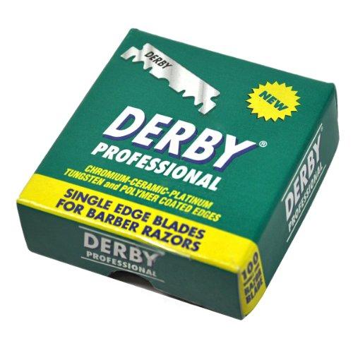 Derby Professional Einschneidige Rasierklingen für Rasiermesser, 1000 Stück
