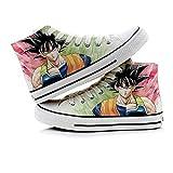 Nyrgyn Anime Dragon Ball Zapatos de Lienzo Impreso Zapatillas de Deporte de Lona de Zapatos Casuales,36 EU