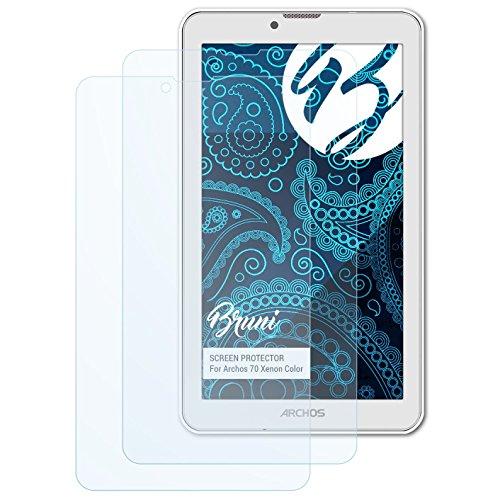 Bruni Schutzfolie kompatibel mit Archos 70 Xenon Color Folie, glasklare Bildschirmschutzfolie (2X)