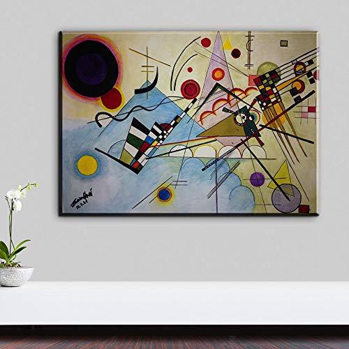 HGlSG WASSILY KANDINSKY Compositie no8 1923 Muurschildering foto blad Home Decoratieve kunst Foto Verf op Canvas voor Kinderkamer Nordic A3 60x90cm