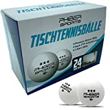 PHIBER-SPORTS Premium Tischtennisbälle 3 Stern [24 Stück] – Perfekte Spieleigenschaften