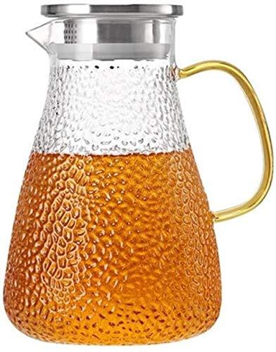 ZHIFENCAO Tetera de Cristal Pitcher litros Jarra de Vidrio Jarra de Vidrio con la Jarra de té Tapa de Hielo de Leche y Jugo Pitcher Bebidas Jarra de Agua Caliente for el Agua fría de té Helado Vino