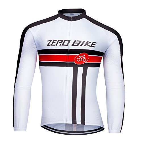 ZEROBIKE Men#039s Soft Long Sleeve Breathable Bicycle Cycling Jersey Polyester Clothing Outdoor Sports Fall Autumn