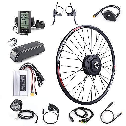 Bafang Kit de Conversión de Bicicleta Eléctrica de 48V 500W 20' 26' 27,5' 700C Kit de Conversión de Motor de Bicicleta Eléctrica de la Rueda Trasera Ebike