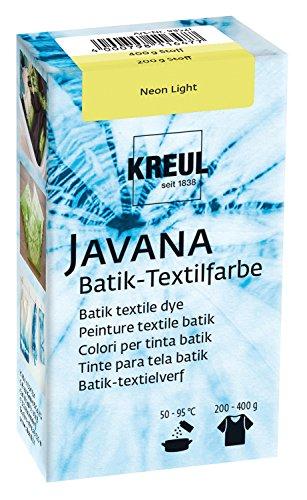 Kreul 98521 - Javana Batik Textilfarbe, 70 g Farbpulver in Neon Light, zum Färben von Textilien mit der Shibori Technik