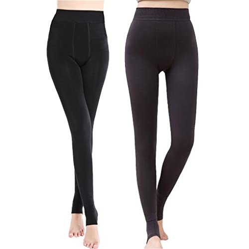 1752defc5d1d7 Romastory Women's Winter Warm Fleece Lined Tights High Waisted Elastic  Leggings Pants