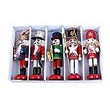 Cascanueces de Navidad, 5PCS / Set Marioneta de Cascanueces Soldado de Madera, Marionetas de Madera ...