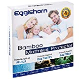 Eggishorn Bamboo Mattress Protector 100% Waterproof Mattress Encasement Ultra Soft and Breathable Cover Queen Size