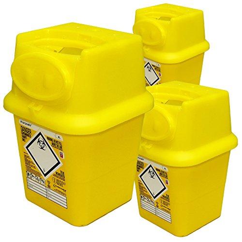 qualicare Sharpsafe Nadel Spritze Insulin Entsorgung Operation Mülleimer Box-4Liter, triplw Pack