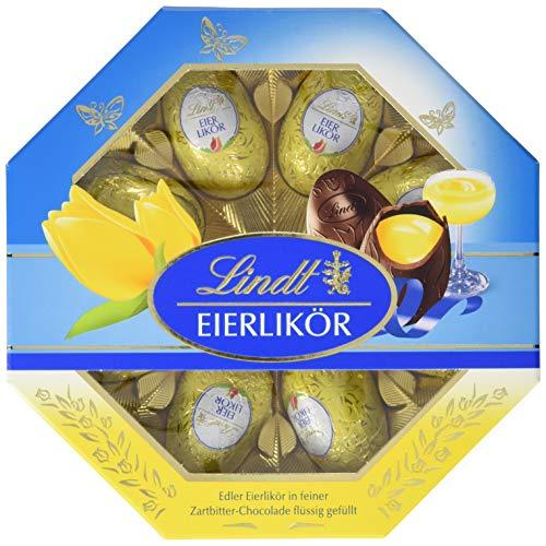 Lindt Eierlikör-Eier Kasette in feiner Zartbitter-Chocolade flüssig gefüllt, 4er Pack (4 x 144 g)