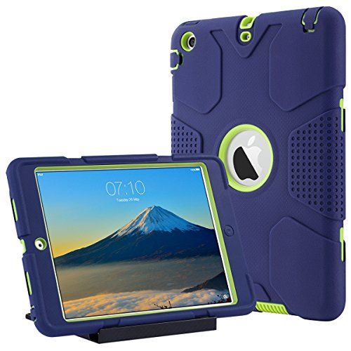 ULAK Coque iPad Mini 1 2 3, Étui Housse iPad Mini Protection Antichoc avec Support Coque pour Apple iPad Mini 1/2/3 (Bleu)