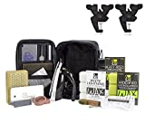 Demon Podium Ski Snowboard Tune Kit w/Iron, Premium Universal Wax Kit 399 Grams, Vise, Waxing Apron & Base Cleaner