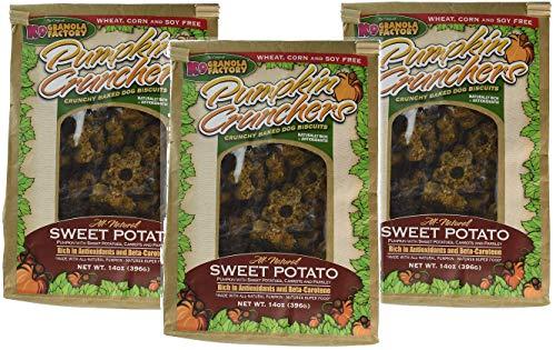K9 Granola Factory 3 Pack of Sweet Potato Pumpkin Crunchers Dog Treats, 42 Ounces Total