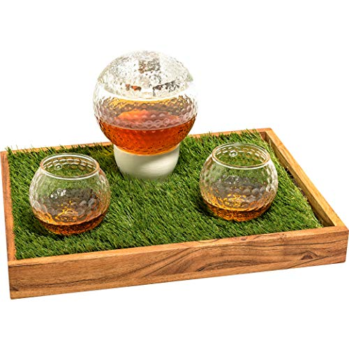Golf Ball Decanter Set - Golf Gifts for Men & Women Who Love Scotch, Whiskey, Bourbon, etc. - Home Decor Golf Accessories, Gifts for Golfers (1000ml Whiskey Decanter Set) Golfing Gift for Men/Women