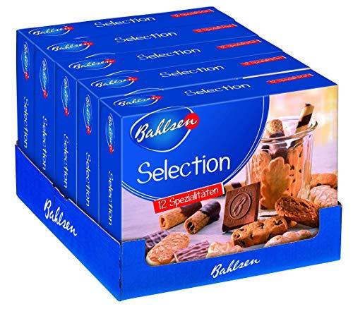 Bahlsen Selection 5 x 500 g Gebäckmischung, vielfältige Mischung aus Waffeln und Keksen, mit und ohne Schokolade, knuspriges Kaffeegebäck, köstliche Klassike