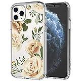 MOSNOVO iPhone 11 Pro Max Hülle, Champagner Rosen Blühen Blumen Muster TPU Bumper mit Hart Plastik Hülle Durchsichtig Schutzhülle Transparent für iPhone 11 Pro Max (Champagne Roses)