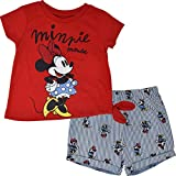 Disney Minnie Mouse Toddler Girls T-Shirt and Shorts Set with Tie-Knot 4T