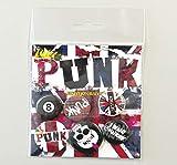 1art1 Punk Rock - Anarquía, Union Jack, 4 X 25mm & 2 X 32mm Chapas Set De Chapas (15 x 10cm)