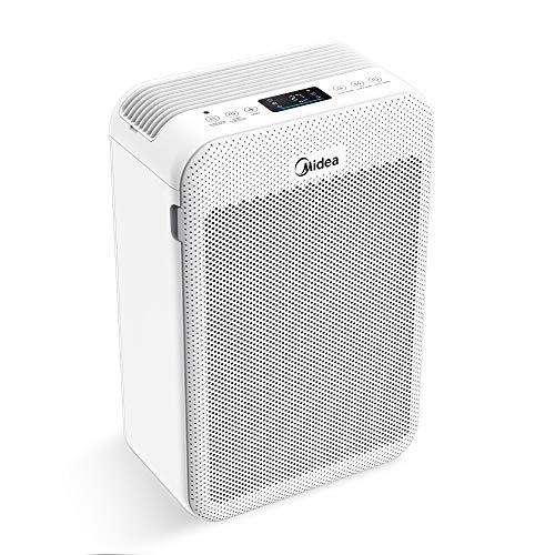 Midea MP 3.360 Ozonfrei Luftreiniger speziell für Allergiker, mit 8H Timer, CADR 360m³/H, HEPA H13 Filter entfernt 99,9 Prozent Viren und Aerosole, für Räume bis 42m²