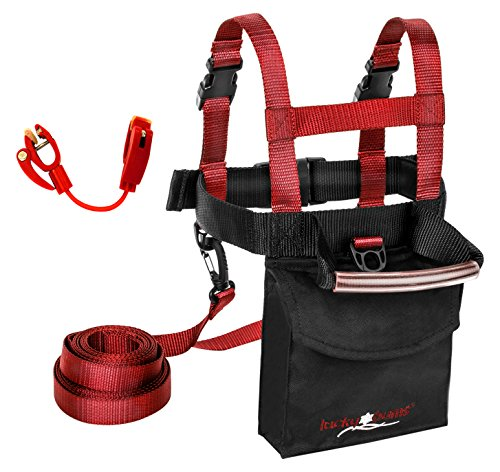 Lucky Bums Kids Ski trainer Harness, Red, One size