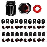Tapas de Válvula de Neumático,40 Piezas Tapones Universal Tapas Compatible con válvula Valve Caps de Válvula para Coches Motos y Bicicletas