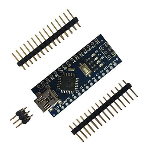 OIUY Mini Placa de Pruebas USB Nano V3.0 ATmega328 5V regulador de Voltaje de Placa de microcontrolador para Arduino-Compatible