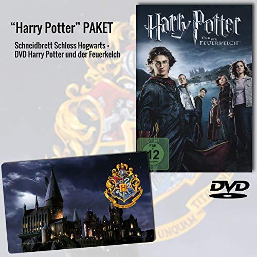 """Harry Potter und der Feuerkelch DVD + Harry Potter Schneidbrett """"Schloss Hogwarts"""""""