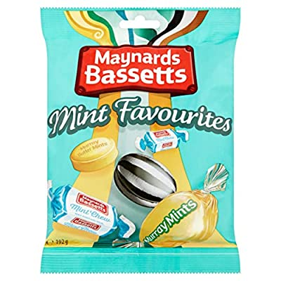 classics maynards bassetts mint favourites sweets bag, 0.192 kg Classics Maynards Bassetts Mint Favourites, 192g 51akrNfiwcL