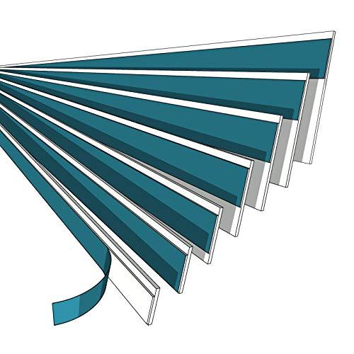 NOBILY *** Fensterleiste 20mm ohne Lippe / 1 Meter - 150 Meter/PVC - Fensterleisten Flachleisten Kunststoffleisten Profileleisten Abschlussleisten Zierleisten zur Fenster Montage
