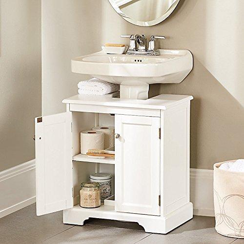 Improvement Weatherby Bathroom Pedestal Sink Storage Cabinet - White