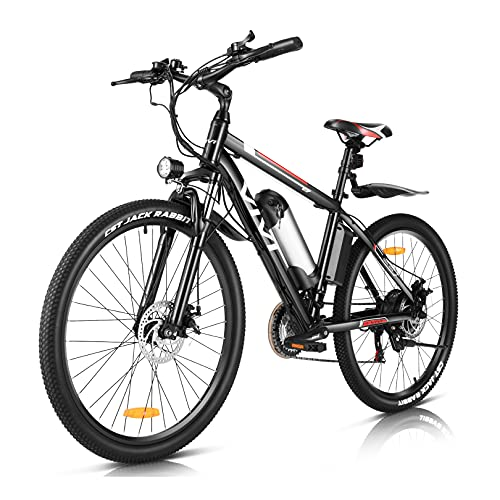Vivi Electric Bike for Adults,500W/350W Adult Electric Bicycle Ebike,26'' Electric Mountain Bike with Removable 48V 12.5AH/36V 8AH Lithium Battery,Professional Shimano 21 Speed Gears (350W-8AH)