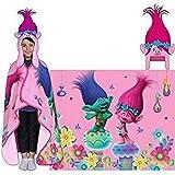 Hoodiwinks Trolls Poppy Cozy Hat & Throw Wrap Set