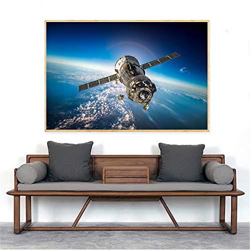 Galaxy Stars Astronaut Planet Hole Space Poster und Drucke Universum Erde Meteorit Wandbilder für Wohnzimmerdekoration (ohne Rahmen) 30x40CM