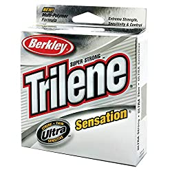 This is a picture of Berkley Trilene Sensation. It is our favorite mono line for baitcasting due to its amazing ability to transfer the feeling of the end of the line all the way to your hands. Never miss the feel of a big bite with this!