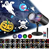 Halloween LED Projector, Ocean Wave Lights Projector with Remote Control, 20 Switchable Patterns Waterproof Outdoor Projectors for Celebration Christmas Birthday and Party Holiday Decoration
