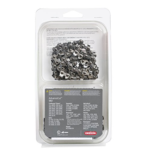 Oregon S62T AdvanceCut Chainsaw Chain for 18-Inch Bar; Fits Echo CS-400 and CS-370, Poulan 2150 and 4180, more; 3/8-in low profile pitch, .050-in gauge, 62 drive links (2-pack) , GREY