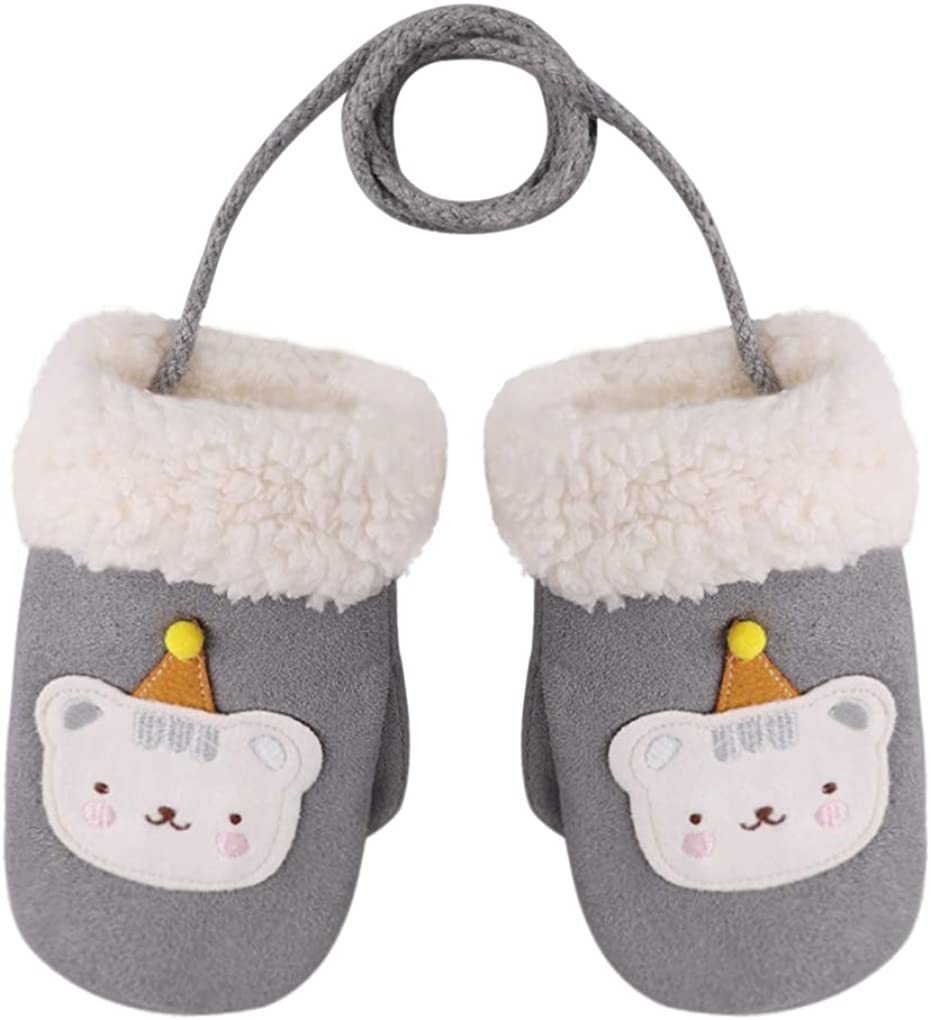 Kids Cute Cat Cold Weather Water Resistant Mitten Gloves Hand Warmer Xmas Gift