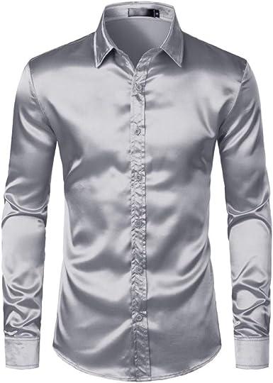 Mens Polo Shirtcamisas De Vestir Satén para Hombres Camisa ...
