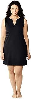 Women's Plus Size Cotton Jersey Sleeveless Swim Cover-up Dress