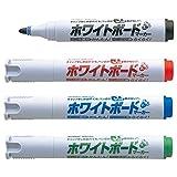 シヤチハタ アートライン潤芯ホワイトボードマーカー  K-527/4W 丸芯 4色セット
