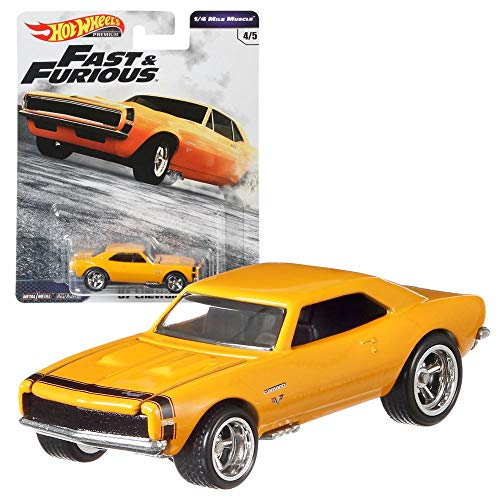 Hot Wheels Fast & Furious 1/4 Mile Muscle Premium Car Set | Coche Mattel GBW75, Vehículo:\'67 Chevrolet Camaro