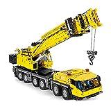 LIRONG Technic GMK Crane Truck Building Kit, 2.4G RC/App Control Remoto Crane RC Crane Grúa Grande con 5 Motores, Bloques De Construcción Compatibles con Lego Technic