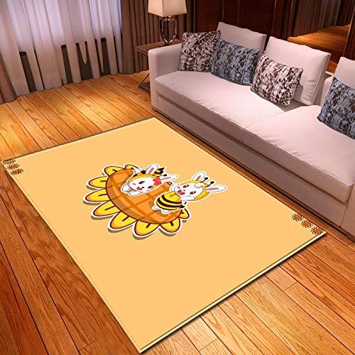 LGXINGLIyidian Casa Alfombra Patrón De Arte De Dibujos Animados De Anime Clásico Alfombra Suave Antideslizante De Decoración del Hogar De Impresión 3D T-440K 160X230Cm