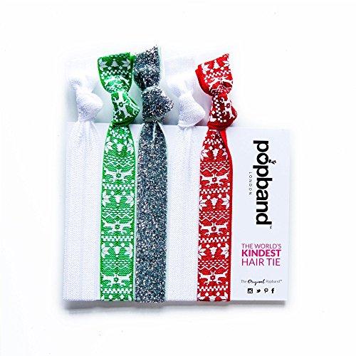 Popband Noël - Paquet de 5 Élastiques à Cheveux Popbands