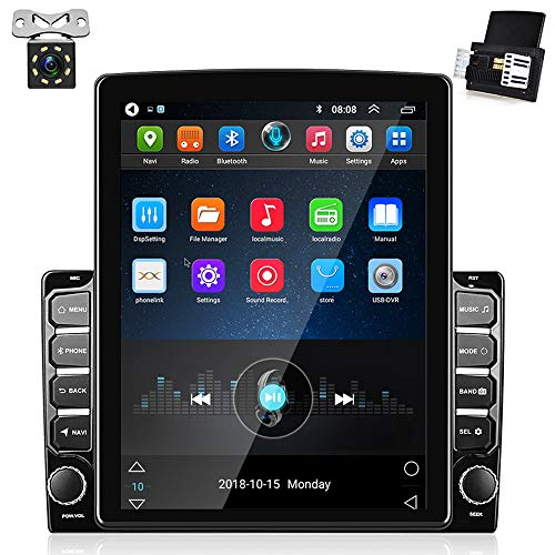 """Android Car Stereo Double Din 9.7"""" Touchscreen Car Radio With GPS Navigation, Bluetooth Hands-free Call, FM Radio, Steering Wheel Remote Control, Reversing Image Input + Dual USB Cable & Backup Camera"""