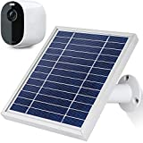 [Upgraded Version] iTODOS Solar Panel Charge for Arlo Essential Spotlight Camera, 11.8Ft Outdoor Power Charging Cable and Adjustable Mount,Charger for Essential, Not for Arlo HD Pro Pro2 Pro3- Silver