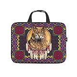 Native American Cat - Funda protectora para portátil (multifunción, para portátil/MacBook, Ultrabook/Chromebook), blanco (Blanco) - Dogedou670