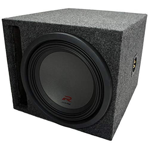 """Universal Car Stereo Slotted S Port Single 8"""" Alpine SWR-8D4 Type R Car Audio Subwoofer Custom Sub Box Enclosure Package New"""