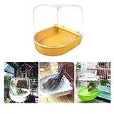 bestlle Caja de bañera de loro, jaula de pájaro, ducha de baño, cubo de pie para baño...