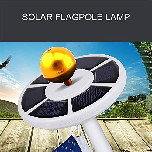 PopHMN Solar Fahnenmast Lichter 42 Led wasserdichte Fahnenmast Lichter Solar, für Fahnenmast Lichter, Camping